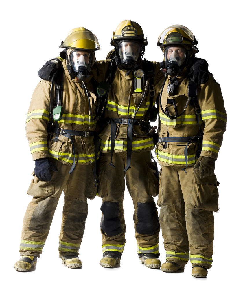 Firefighters in full gear