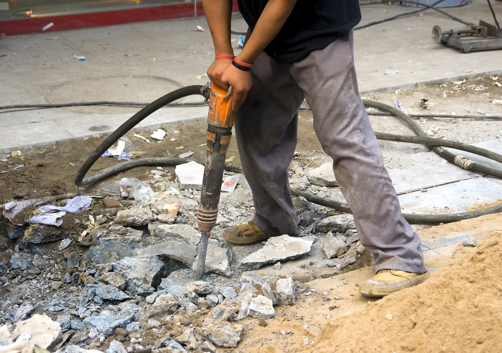 Man using a jackhammer