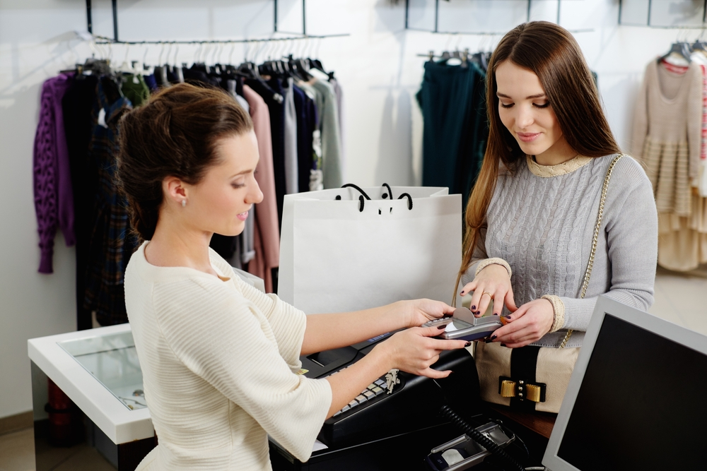 Woman working in a clothing retailer