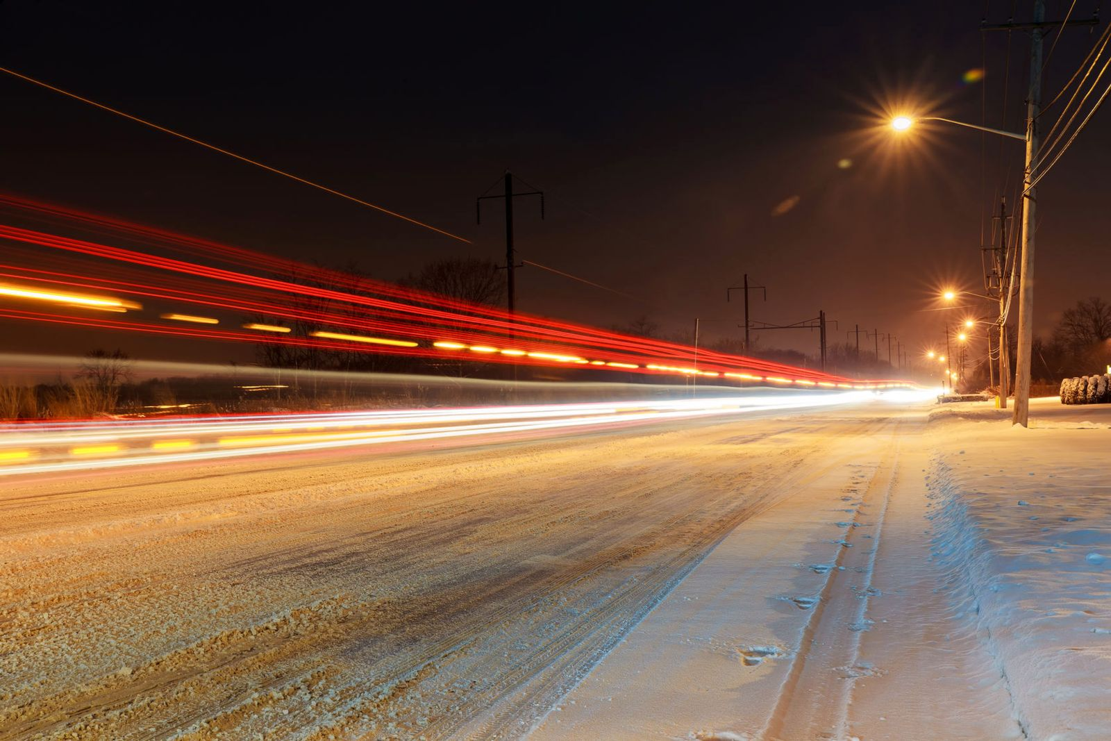 winter roadway accident