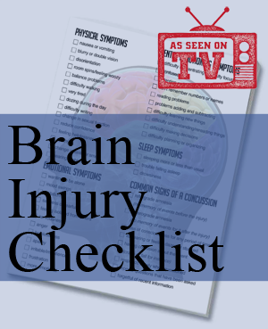 brain injury checklist accident attorney