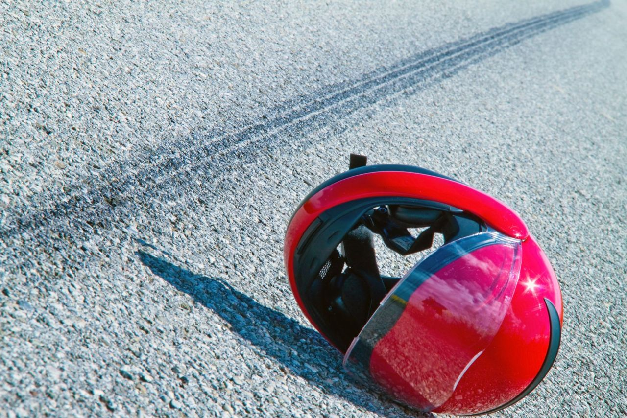 motorcycle helmet accident