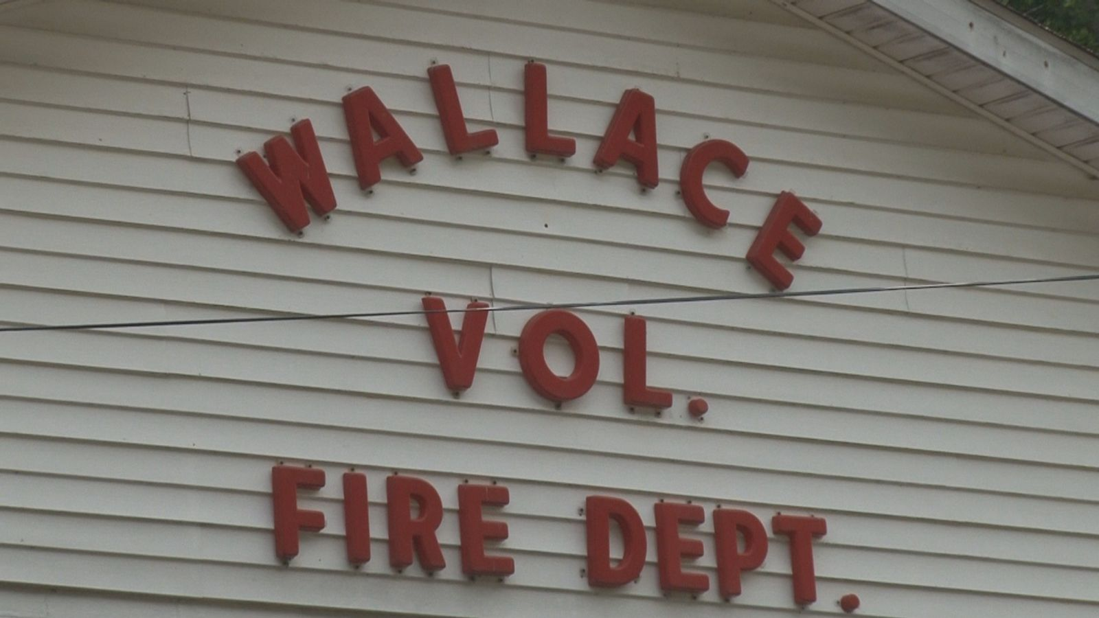 Wallace Fire Department Sign