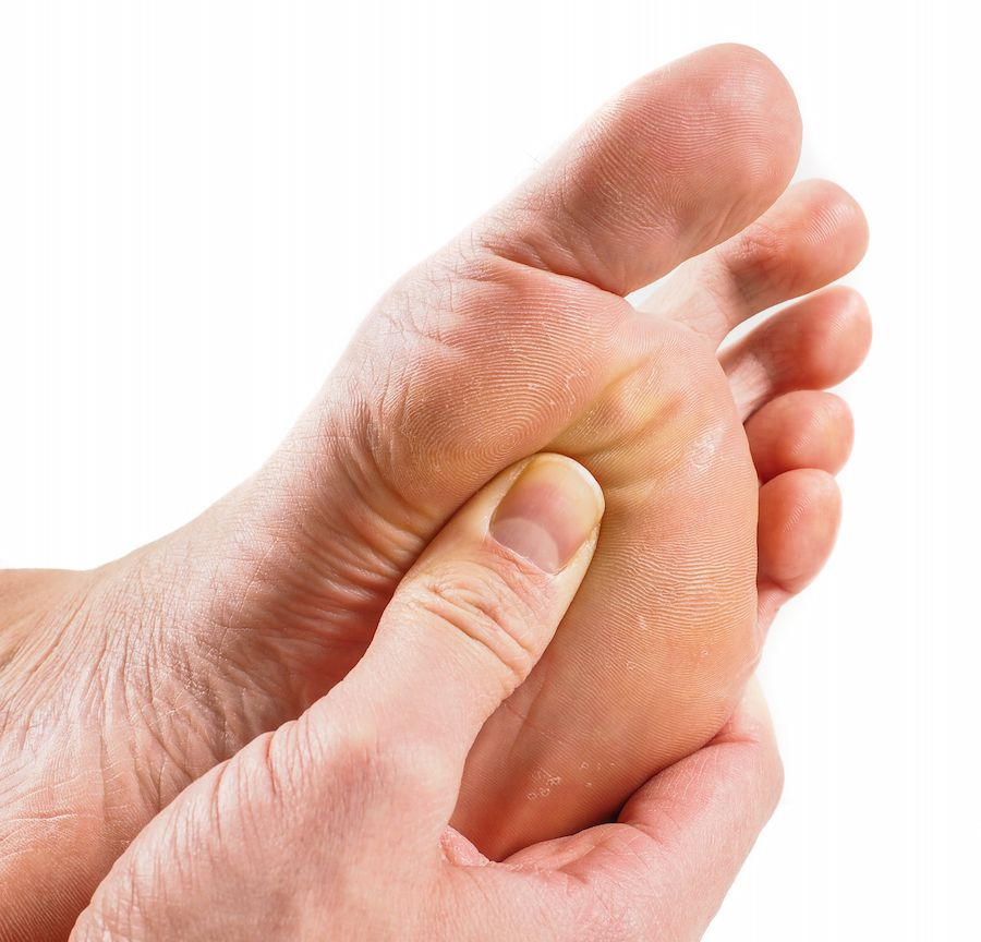 A daily foot check is an important habit for people with diabetes to take up.