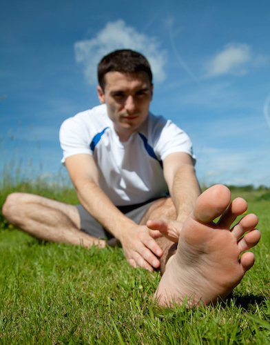 Stretch out during turf toe recovery!