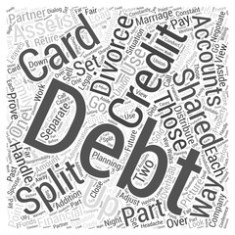 Divorce and dividing debt