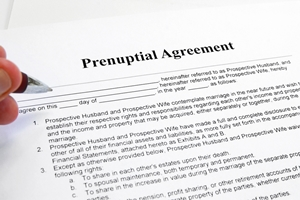 Writing your own prenup