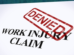 Work Injury Claim With a Red Denied Stamp