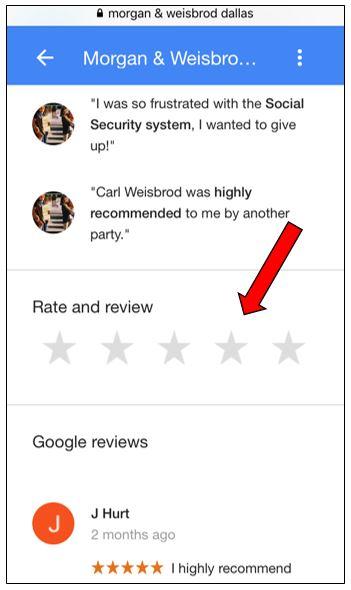 Morgan & Weisbrod Google reviews