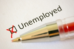Unemployed box checked in red on form