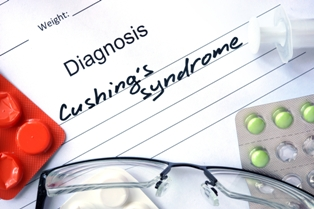 Prescription pad with Cushing's syndrome written on it