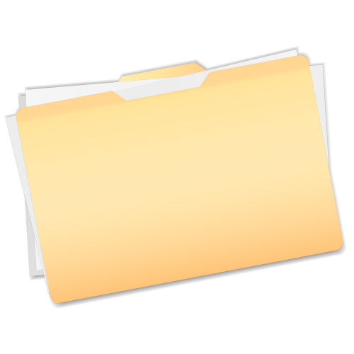 File folder with documents sticking out