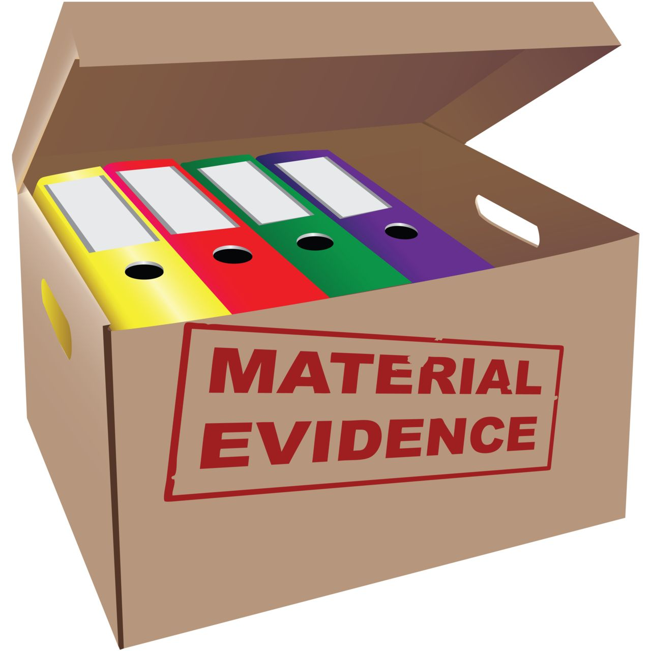 Box of material evidence