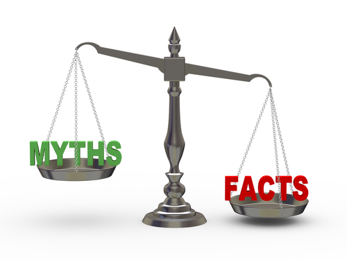 scale showing facts outweighing myths