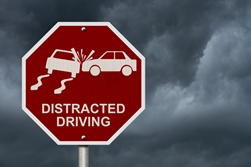 Distracted Driving Traffic Sign