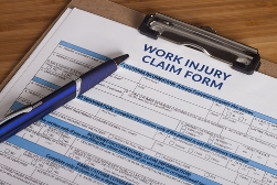 Blank Work Injury Claim Form