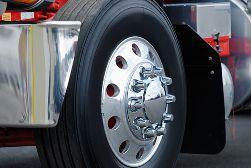 Close up of a Semi-Truck Tire