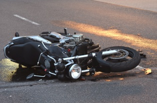 Scene of a Motorcycle Accident