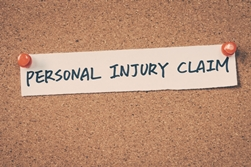 Personal Injury Claim Note on a Bulletin Board