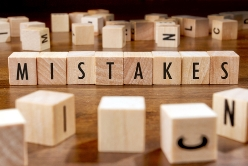 Mistakes Spelled Out in Block Letters