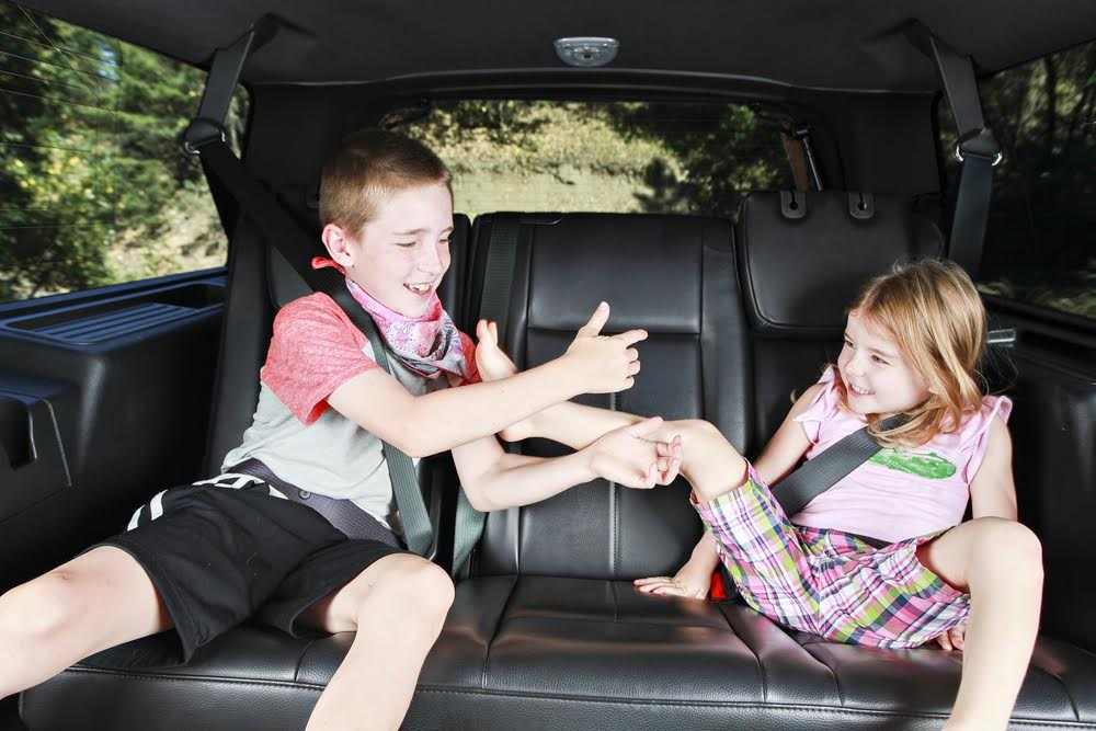 kids acting up in car