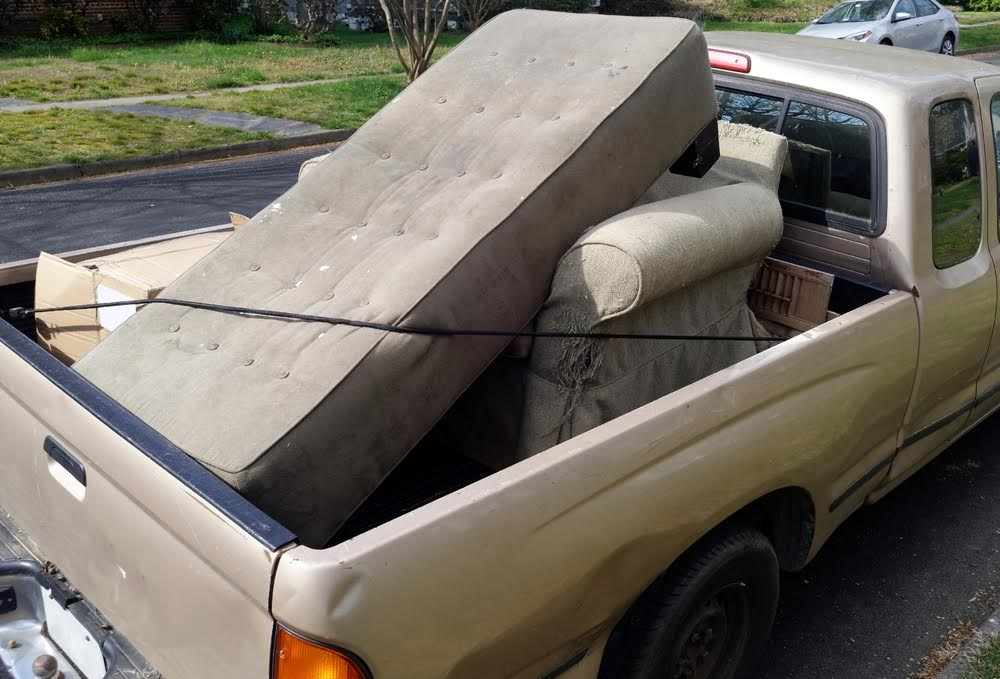 truck bed with furniture