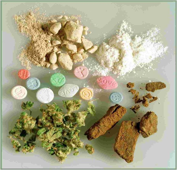 Drugs from drug offense attorney case in Columbus, Ohio