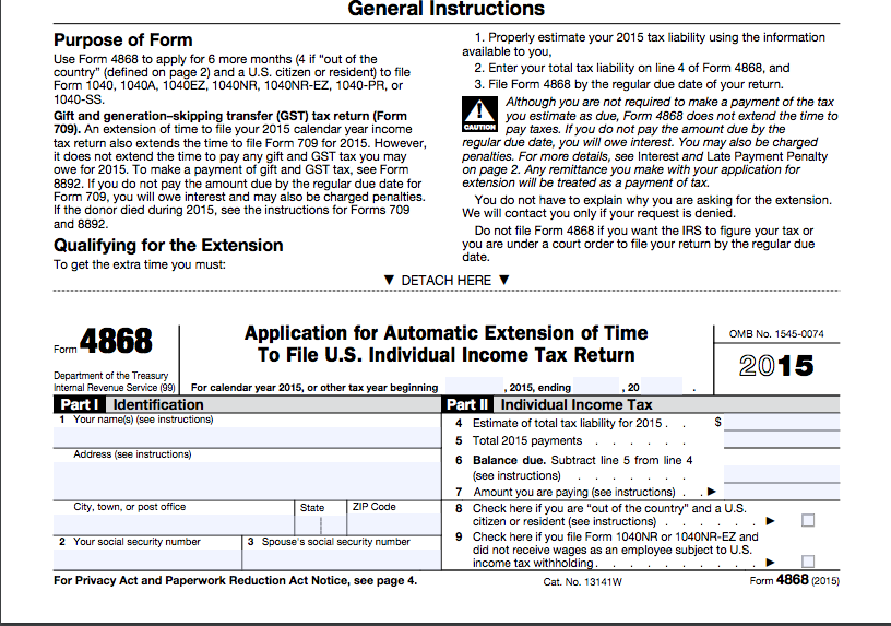 2016 Update Irs Extension To File Income Gift Tax Returns David
