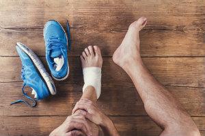 Rehabilitating a sprained ankle