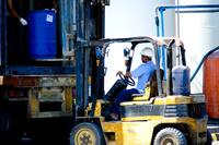 Forklift worker