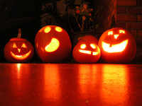 Pumpkins for Halloween safety