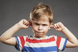 Noise is not healthy for a child's hearing