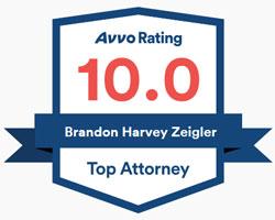 AVVO 10.0 Rating for Brandon H. Zeigler, Experienced Virginia Beach Attorney