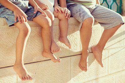 Group of children's feet