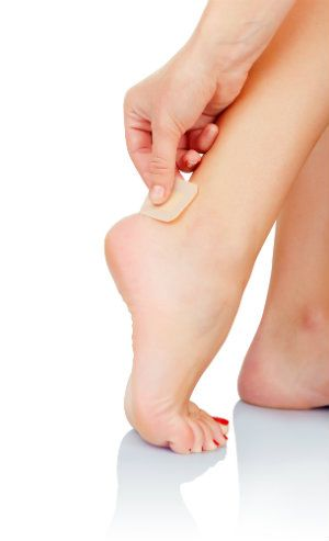 blisters can pop up in frustrating spots, such as the back of the heel