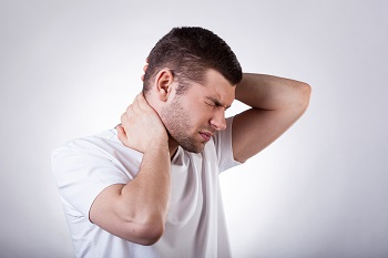 Man with severe neck injury