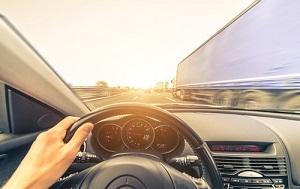 When driving, avoid the dangerous 'no zones' around large trucks