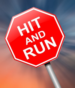 Hit and run bicycle accident sign