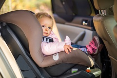 Always use the appropriate safety seat when your child is a passenger