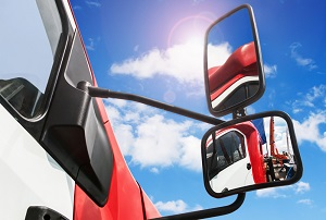 Truck mirrors are no guarantee that the driver will be able to avoid a blind spot crash