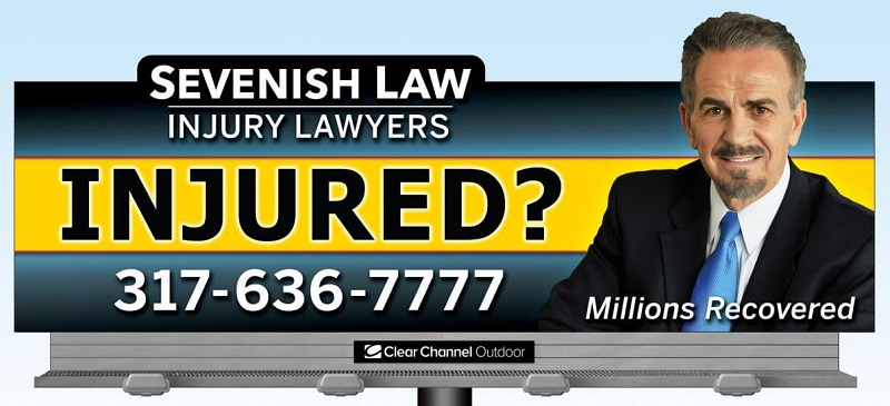 Sevenish Law Firm billboard