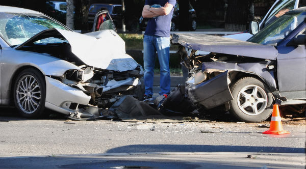 Two Car Head On Collision