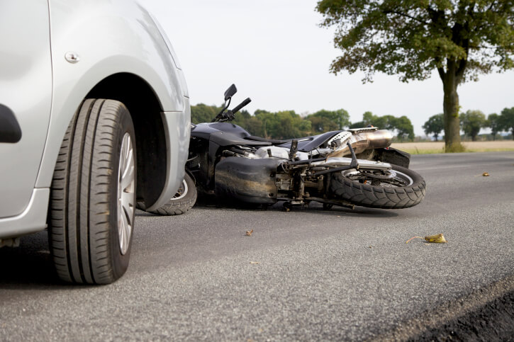 motorcycle accident scene in Indiana