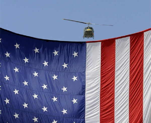 Chopper with USA Flag