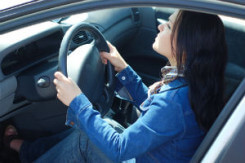Safe Driving Teen Girl