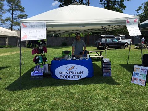 Dr. Marshal Gwynn with Shenandoah Podiatry at  Troutville Trail Days 2015