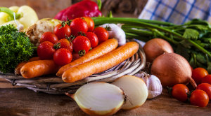 Healthy food promotes foot heath