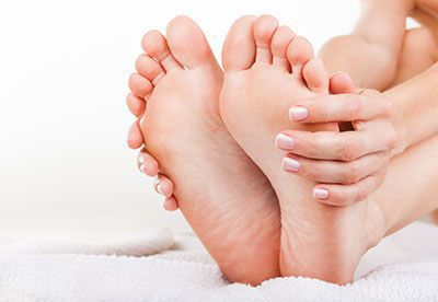 Holding feet