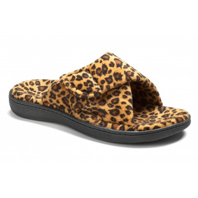 Relax Tan Leopard Slippers
