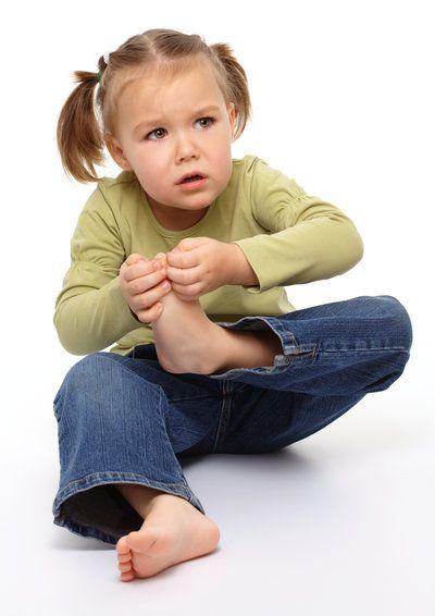 Child with ingrown toenail